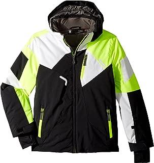 Spyder Kids Boy's Leader Jacket (Big Kids) Black/Bryte Yellow/White 8