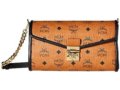 MCM Millie Visetos Leather Block Crossbody Medium (Cognac) Bags