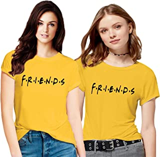 Hangout Hub Family-Friends- Women's Cotton Printed Regular Fit T-Shirts (Pack of 2) - Friends