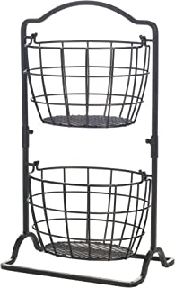 wrought iron fruit basket stand