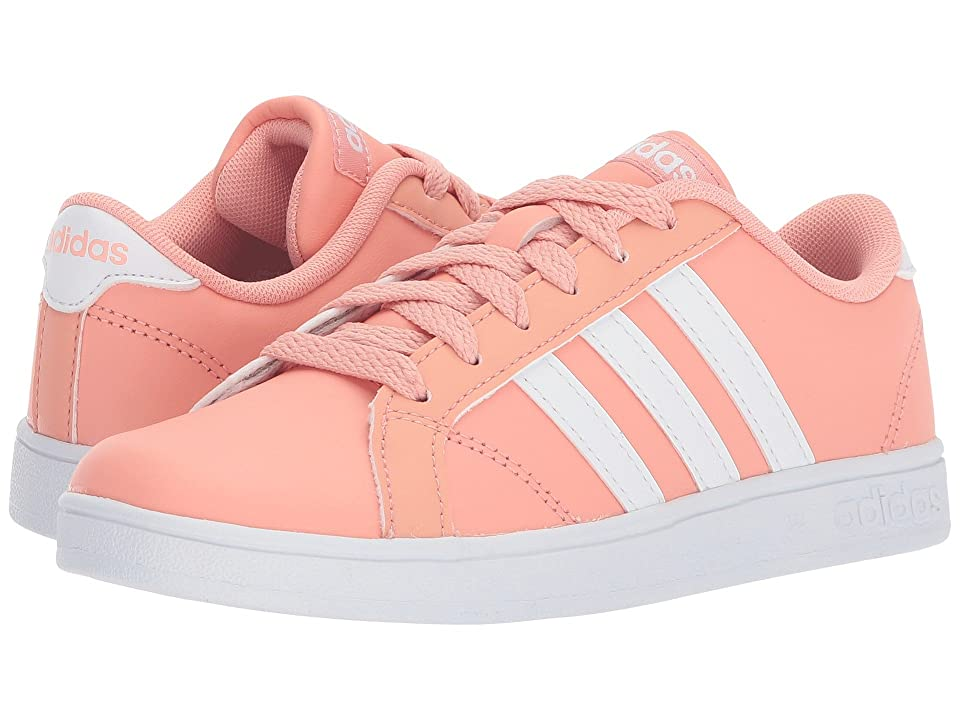 adidas Kids Baseline (Little Kid/Big Kid) (Trace Pink/White) Kids Shoes