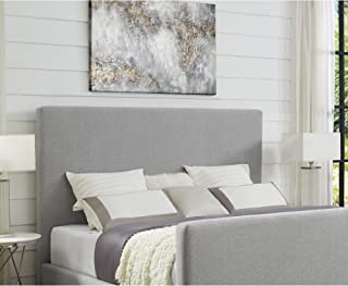 linen tufted bed
