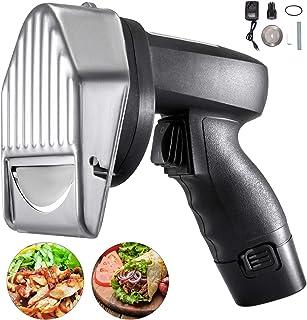 Anhon Cortadora Eléctrica Kebab Cuchillo de Barbacoa Inalámbrico Comercial Cuchillo Gyro Ampliamente Utilizado en Carnes Asadas, Restaurantes, Bares, Familias, Etc