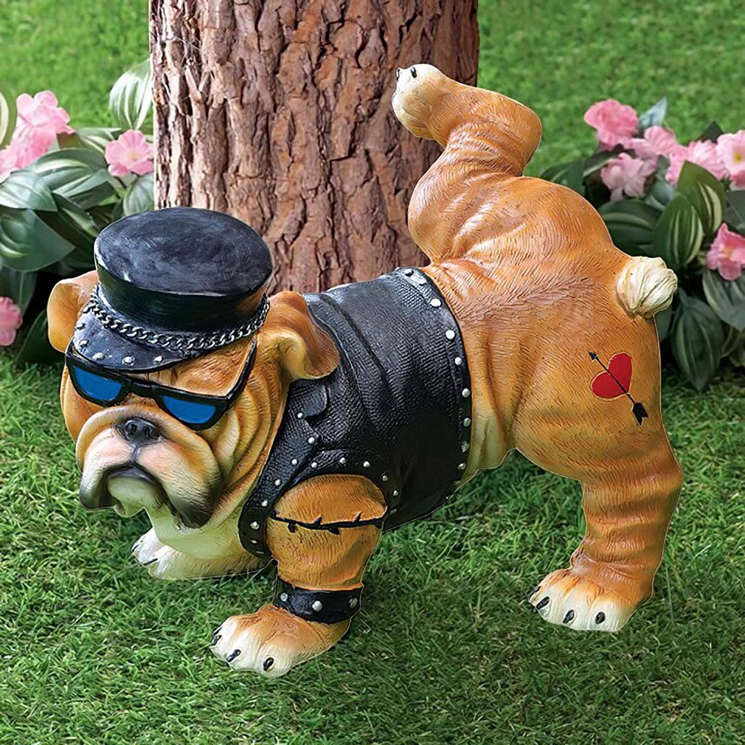 Funny Peeing Bulldog Tough Guy Creative Resin Halloween Statue All items Oakland Mall free shipping