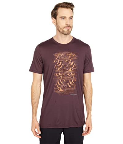 Smartwool Merino Sport 150 Bryan Iguchi Mountains Graphic Tee (Woodsmoke) Men