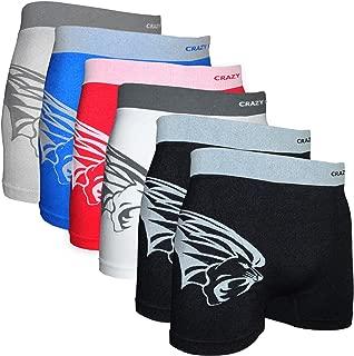 Stretches Seamless Mens Boxer Briefs Underwear 6-Pack Set