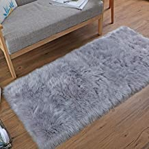 Big Ant Area Rugs, Ultra Soft Australian Sheepskin Wool Rectangle Chair Couch Cover Seat Area Rugs for Bedroom Sofa Floor ...