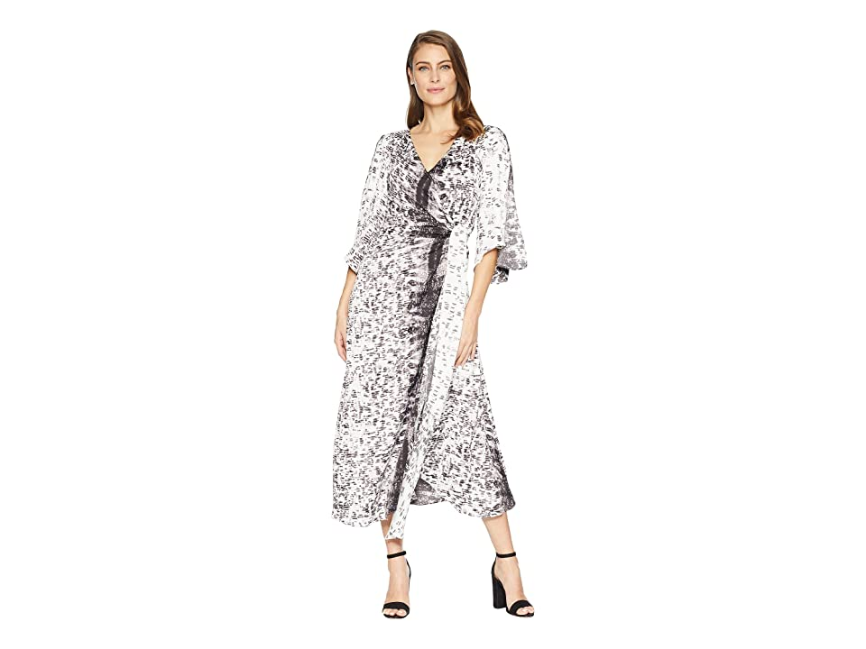 Kenneth Cole New York Drapy Maxi Dress (Urban Traction All Over Grey Combo) Women