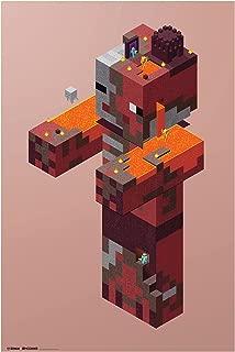JINX Minecraft Zombie Pigman Nether Wall Poster, 22.375
