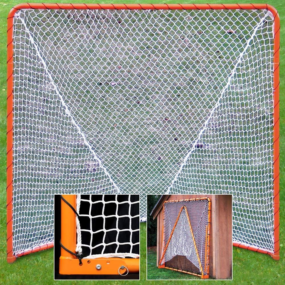 EZGoal Lacrosse Folding Industry No. 1 Goal 6 [Alternative dealer] Orange x 6-Feet