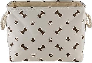 Bone Dry Pet Storage Collection Paw and Bone Print, Large Rectangle, Dark Brown