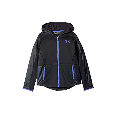 Under Armour Kids Swacket Jacket (Big Kids) (Black/Constellation Purple) Girl