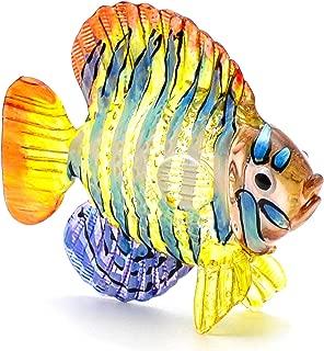 Zoo Craft Hand Blown Glass Figurine Angel Fish Handmade Miniature Animal Art