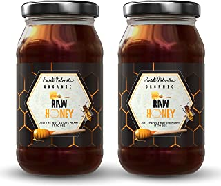 Societe Naturelle - Raw Honey Organic Unfiltered - 500gms - Pack of 2 / Certified Honey / Pure Raw Unpasteurized Unprocess...