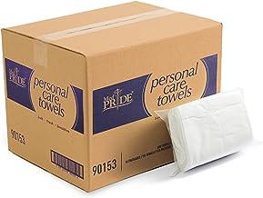 """دستمال مرطوب یکبار مصرف Medpride   800-count، 11 """"by 12"""" Quarter Fold   نرم و جاذب   ایده آل برای دستمال مرطوب کودک ، مراقبت از بی اختیاری ، از بین بردن آرایش ، مراقبت از پوست / پاک کننده ، مراقبت شخصی و پاک کردن سطح"""
