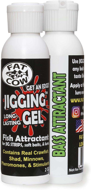 Fat Cow Popular standard Jigging Gel Fish Attractant Bait - oz 2 Low price Scent