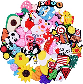 XHAOYEAHX 40pcs Different Shoes Charms Fits for Croc Clog Shoes & Jibbitz Wristband Bracelet Party Gifts