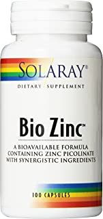 acne zinc supplement by Solaray