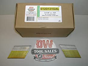 12d Hot Dip Galvanized 3 1/4 28 Degree Clip Head Wire Weld Nails (2,500)