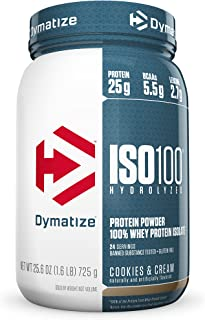 Dymatize ISO 100 Post Workout and Recovery Supplements, Cookies and Cream, 1.6 Pound (Pack of 6)