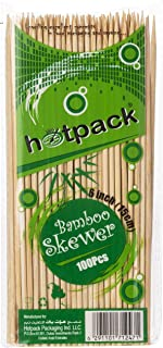 Hotpack Bamboo Skewer 6 Inches, 100 Pieces