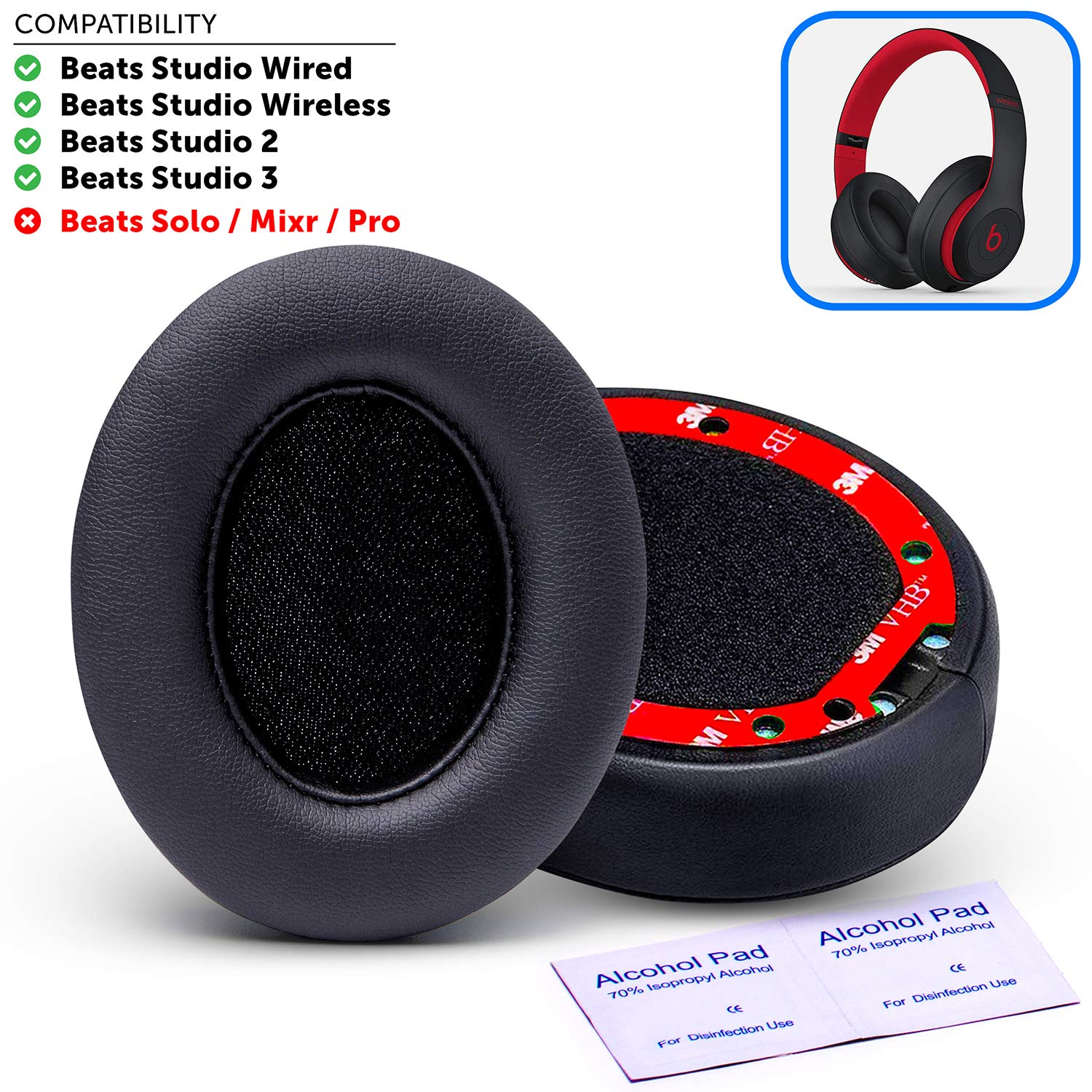 Upgraded Beats Replacement Wicked Cushions