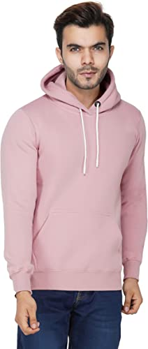 Urban Age Clothing Co. Men's Cotton Plain Hoodie Sweatshirt
