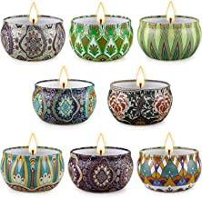 YINUO LIGHT Scented Candles Gifts for Women 8 Scents Candle Set Made from Soy Wax, Long Lasting Soy Candles for Home Scent...