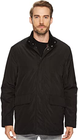 "Cole Haan 32"" 3-in-1 Coat with Contrast Color Liner, Corduroy Collar and Knit Trim Details"