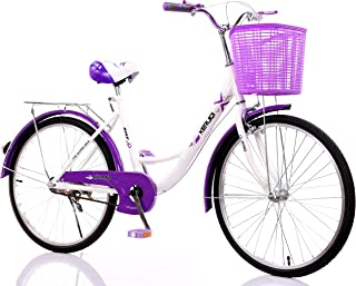 "MACCE Women 1 Speed Ladies Cruiser Bike 24"", Purple, Size L"