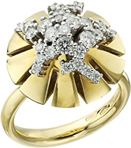 Vesuvio 18k Gold/Diamond Ring