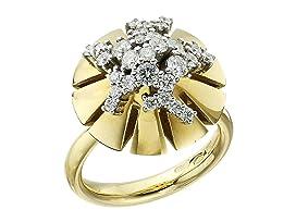 Vesuvio 18k Gold/Diamond Ring