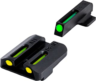 TRUGLO TFO Tritium and Fiber-Optic Handgun Sights for Kahr Arms Pistols, Green Rear (TG131AT1)