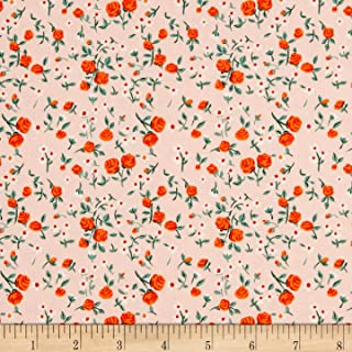 Windham Fabrics Heather Ross Mousies Floral Peach Fabric Fabric by the Yard