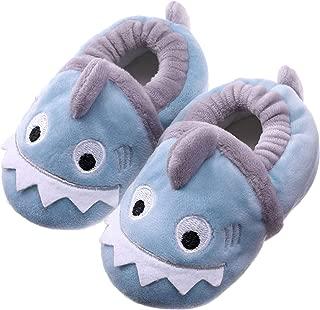 SDBING Toddler Baby Boys Girls Cute Cartoon Shark Shoes Soft Anti-slip Winter Home Slippers 6-24 Months