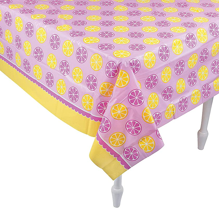 Fun Express Lemonade Party Tablecover For Birthday Party Supplies Table Covers Print Table Covers Birthday 1 Piece