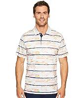 BUGATCHI - F21 Short Sleeve Digital Prints Three-Button Shirt