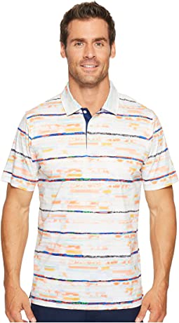 BUGATCHI - F21 Short Sleeve Digital Prints Three-Button Shirt