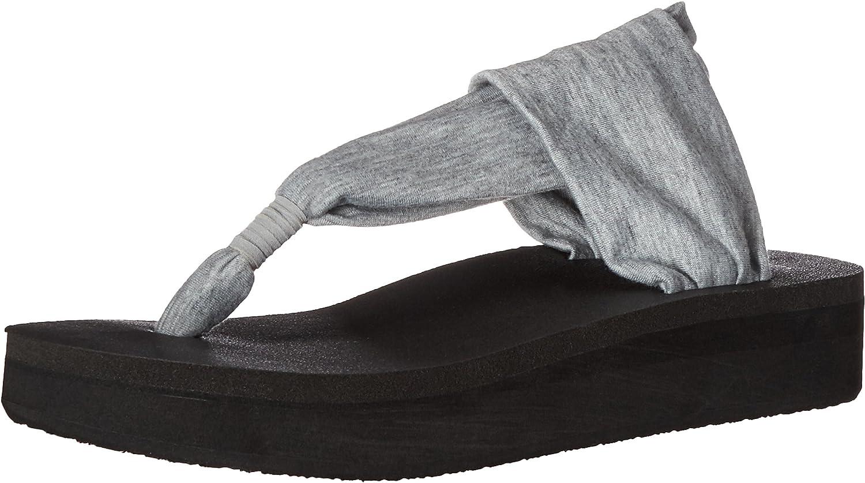 Sanuk Womens Yoga Sling Wedge Flip Flop