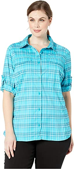 Modern Turquoise Small Plaid
