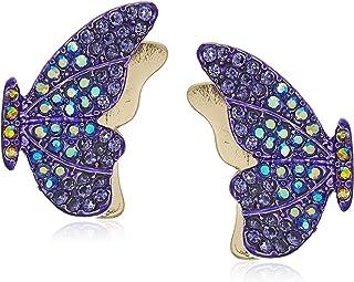 Pave Butterfly Stud Earrings