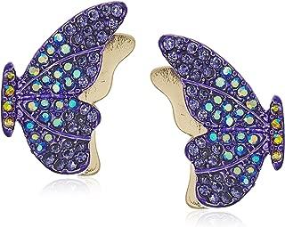 Women's Purple Butterfly Stud Earrings