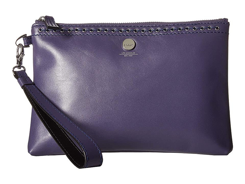 Lodis Accessories Saratoga Koto Wristlet Pouch (Deep Violet) Wristlet Handbags