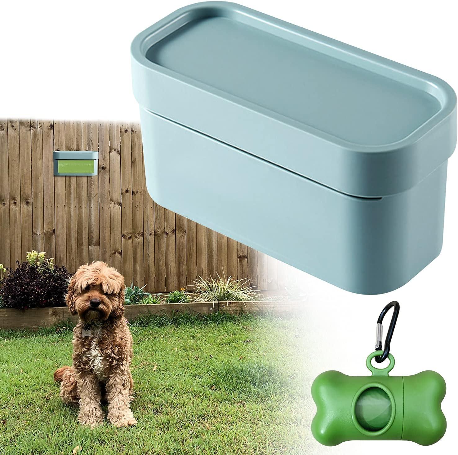 KCLROEO 2pcs/Set Dog Poop Bag Dispenser Wall Mount.Outdoor Doggy/Dog Poop Bags Holder and Storage Station.ABS Pet Waste Bag Holder For Yard Garden Fence & Indoor