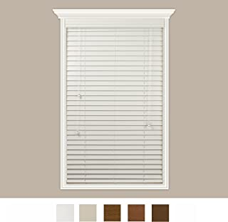 Luxr Blinds Custom-Made Real Wood Horizontal Window Blinds with Easy Inside Mount - 16