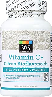 365 Everyday Value, Vitamin C + Citrus Bioflavonoids, 100 ct
