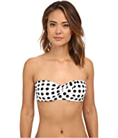 LAUREN Ralph Lauren - Catalina Dot Draped Bandeau Top w/ Molded Cup