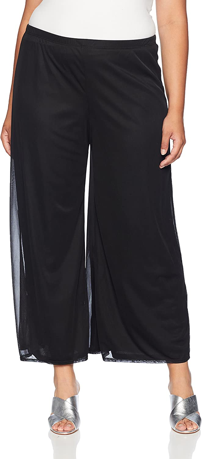MSK Womens PlusSize Day to Evening Wide Leg Mesh Pant