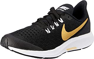 Nike Australia Girls Air Zoom Pegasus 35 SH GS Fashion Shoes, Black/Metallic Gold-White