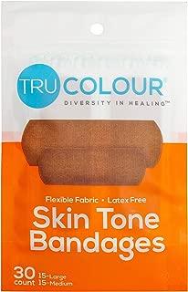 Tru-Colour Skin Tone Bandages: Brown-Dark Brown Single Pack (30-Count; Orange Bag)